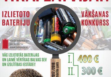 Uzsāk cīņu ar videi kaitīgiem atkritumiem – izlietotām baterijām