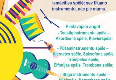 Naujenes Mūzikas un mākslas skola veic jauno audzēkņu uzņemšanu Mūzikas un Mākslas nodaļās