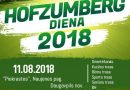 """Notiks """"Hofzumberg diena 2018""""!"""