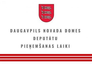 Daugavpils novada domes deputātu pieņemšana oktobrī